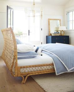 Summer Style! Wicker Bed -- cool and fresh bedroom!