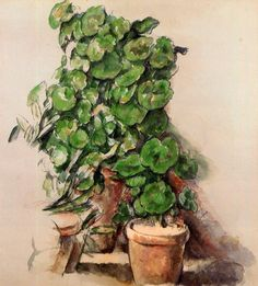 Pots of Geraniums (Paul Cezanne - circa 1888-1912)