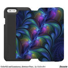 Colorful and Luminous, abstract Fractal Art iPhone 6/6s Wallet Case