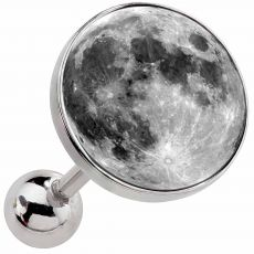 Full Moon Surgical Steel Cartilage Earring