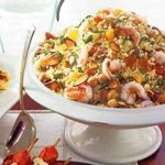 Couscous and Shrimp Salad with Tangerines and Almonds