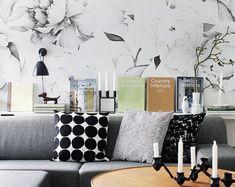Fond d'écran JUNGLE noir blanc Design unique qualité | Etsy
