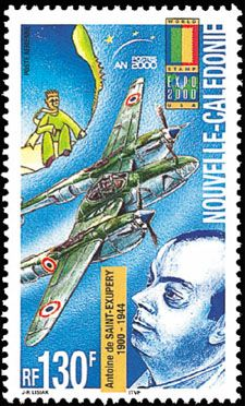 Linn's: News: Stamps honor flying author Saint-Exupery ......wonderful sense of night flights across Atlantiic in early aviation days   Pat