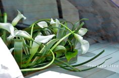 Fioreria Oltre/ Calla lily wedding car decoration