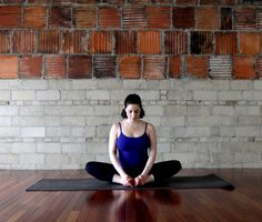 Sit your tush on the floor, bend your knees, and bring the soles of your feet together for Butterfly. Stay seated for five breaths, or fold forward to deeply stretch your hips and lower back.