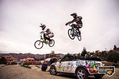 MINI Cabrio sets the scene for some BMX stunt wizardry.