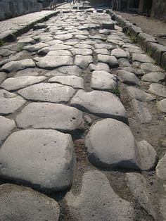 Pompeii-notice the grooves from the chariot wheels over 2,000 years ago.