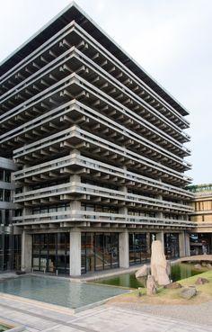 #SOSBrutalism Kenzo Tange: Kagawa Prefectural Office, 1954–1958