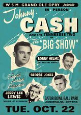 Johnny Cash - Rockabilly Print Poster Jerry Lee Lewis
