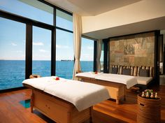 Jumeirah Dhevanafushi Resort, Maldives - Overwater Treatment Room