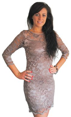 Lace dress suitable for bridesmaids, formal events and nights out. Available in other colours.