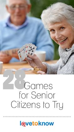 Playing games at any age, including during retirement, is healthy for the mind and body. Games for older adults can keep the brain active, encourage social interaction, and even help to prevent Alzheimer's disease and dementia. Games For Senior Citizens, Senior Citizen Activities, Senior Games, Assisted Living Activities, Dementia Activities, Elderly Activities, Social Games, Senior Fitness, Adult Games