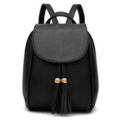 Korean Style High-capacity Tassels All-match Two Usage Backpack (225 ARS) ❤ liked on Polyvore featuring bags, backpacks, accessories, bolsas, knapsack bag, rucksack bags, daypack bag, fringe tassel bag and backpack bags
