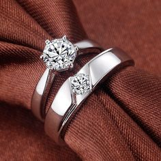 Most loved designed by youngsters and middle aged couples. People who like variety and uniqueness, these high polished white gold platinum Madeline rings will