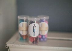 """""""Pill"""" bottles full of candy Girl 2nd Birthday, Toy Story Birthday, 3rd Birthday Parties, Mickey Mouse Parties, Mickey Mouse Birthday, Doctor Mcstuffins, Doc Mcstuffins Birthday Party, Jenny Cookies, Birthday Centerpieces"""
