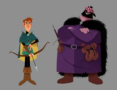 Here's an excerpt of the designs I did for a Character Design book, by Master of Anatomy. I had to create my version of several characters from Robin Hood. Here is Robin, and the Sheriff of Nottingham. A lot of great character designers did their own...