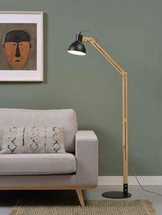 IT'S ABOUT ROMI Citylights Melbourne: Iron/ashwood floor lamp in black (also in white) Urban Lighting, Ceiling Lamp, Lamp, Bulb, Desk Lamp, Bioethanol Fireplace, Home Decor, Ash Wood, Floor Lamp
