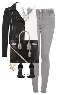 """""""Untitled #1145"""" by lovetaytay ❤ liked on Polyvore featuring Topshop, Totême, Yves Saint Laurent, BCBGeneration, C. Wonder and Burberry"""