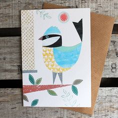 'Birds Of A Feather' Card. Six Designs