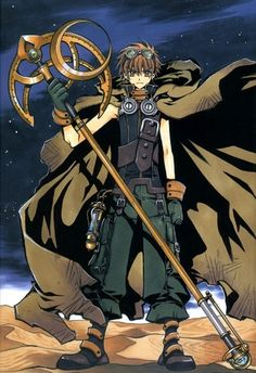 Syaoran from the Tsubasa Reservoir Chronicle manga series was my inspiration for Miles.