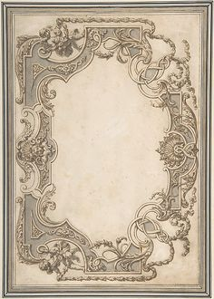 Design for the decoration of a ceiling with a variation for the right side. Both sides of the design are in the style of the late Baroque and include decorative details such as putti, shells, palmettes, leaves, ribbons and garlands