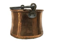 Now selling: Hammered Copper Bucket with Cast Iron Handle - Rustic Copper Bucket https://www.etsy.com/listing/543725167/hammered-copper-bucket-with-cast-iron?utm_campaign=crowdfire&utm_content=crowdfire&utm_medium=social&utm_source=pinterest