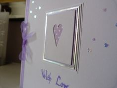 Lilac Heart Valentines Day Card £2.50
