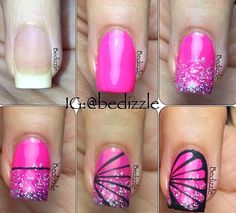 Nail tutorial Butterfly