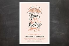 Join Us for A Baby Shower  | by Minted - Unique Holiday Cards Perfect All Events | www.minted.com