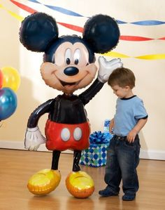 """1 X Lets Party By Party Destination Disney Mickey Mouse Airwalker 52"""" Jumbo Foil Balloon"""