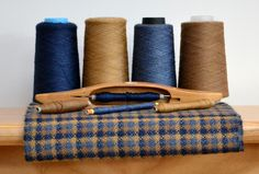 Handwoven Scarf in Wool, Silk and Cashmere (pinwheel spot)