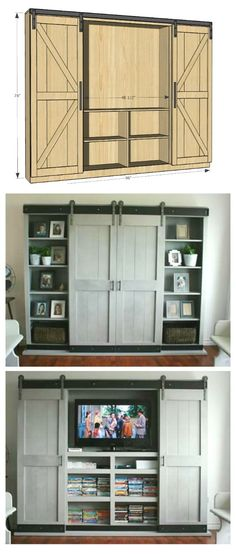 tv kast. ana white | sliding door cabinet for tv - diy projects tv kast l
