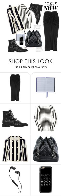 """""""Monochrome Mix"""" by hattie4palmerstone ❤ liked on Polyvore featuring Rick Owens, Smythson, Givenchy, Gap, Courrèges, Chanel, Skullcandy, Casetify and NYFW"""