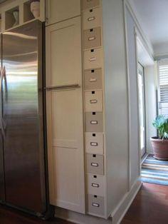 Painted ikea storaged boxes