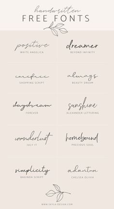 Handwritten Free Fonts Posted by Skyla Design . - Handwritten Free Fonts Contributed by Skyla Design … – - Mini Tattoos, Body Art Tattoos, Girl Spine Tattoos, Wrist Tattoos For Women, Small Tattoos For Women, One Word Tattoos, Small Girl Tattoos, Name Tattoos, Tattoo With Words
