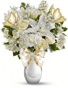 White Rose Bouquet Gif flowers animated rose white gif blossom graphic