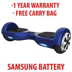 """GROUND GLIDER - Self Balance Electric Hoverboard ( BLUE ) Free Carry Bag is included with all orders ! $20 value This is our latest design model. Includes new UL /CE certified charger with UL / UN38.3 Battery cells. New motherboard design offers easier control while riding and stopping!  Please Note : All Self balance scooters """"hover boards """" are not built the same. Groundglidersusa.com only uses premium materials in its products. Even though other products may look similar to a Ground…"""