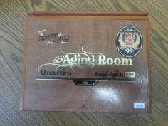 Cigar Box - Natural Finish, Beautiful, All Wood, Dominican Republic, Aging Room Small Batch F55 Cigar Box
