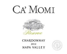 2012 Ca'Momi Reserve Napa Valley Chardonnay 750 mL Wine * Check out this great image @