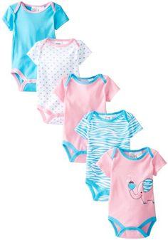 Peanut Buttons Baby-Girls Newborn Girl Elephant 5 Pack Bodysuit, Pink/Blue, 6-9 Months Peanut Buttons,http://www.amazon.com/dp/B00G30VL0Y/ref=cm_sw_r_pi_dp_tYwbtb17QKS0405K