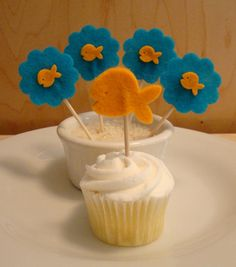 Felt Toothpick Cupcake Toppers