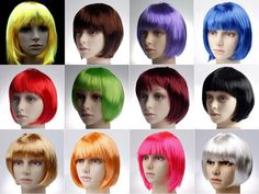 Halloween Party Women's Short Hair Straight Bob Wig this one has more available