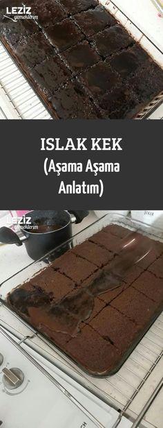 Islak Kek (Aşama Aşama Anlatım) – Only Woman Banana Brownies, Chocolate Brownies, Healthy Cake, Vegan Cake, Cake Recipes, Snack Recipes, Cake Images, Moist Cakes, Cake Videos