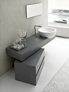 Waschbecken und Unterschrank mit kreativem Design