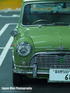 Green Mini My Sister Had One One Hot Summer Day When We Were In Dublin The Radiator Boiled Over All We Had Was A Bottle Of White Lemonad クラシック ミニ ミニクーパー