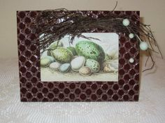 Frame with egg picture