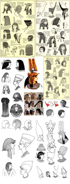 Ancient Egyptian Hairstyles and Crowns Ancient Egypt Art, Old Egypt, Ancient Aliens, Ancient History, Ancient Egypt Culture, European History, Ancient Artifacts, Ancient Greece, Art History