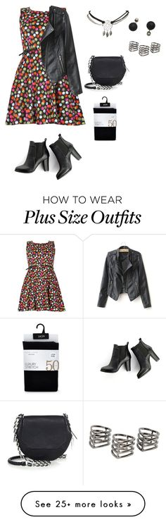 """plus size simple datenight for winter"" by kristie-payne on Polyvore featuring Samya, MANGO, rag & bone and Wet Seal"