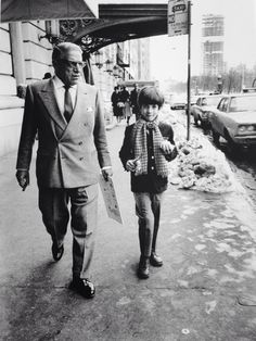 John F. Kennedy Jr. with stepfather Aristotle Onassis, leaving the Trader Vic. in New York, February 16, 1969.
