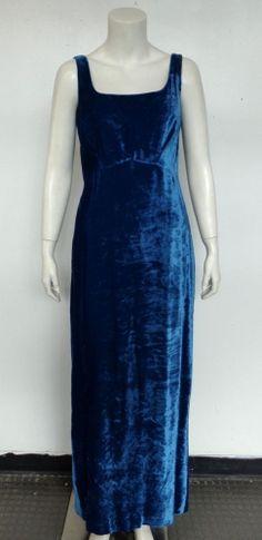 Dolce&Gabbana Crush Velvet, Blue Sleeveless  Gown ~ MY COLOUR IN VELVET!